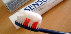 Применение зубных паст Сенсодин для чувствительных зубов