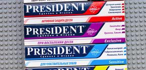 Зубные пасты Президент, особенности их состава и отзывы о применении