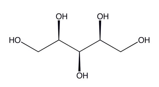 Химическая формула ксилита (заменитель сахара в жевательных резинках)