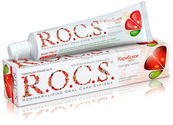 Еще один пример довольно качественной зубной пасты для защиты от кариеса - ROCS Карибское лето
