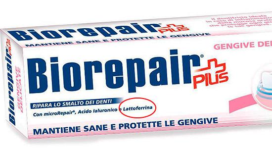 Пример зубной пасты от кариеса с лактоферрином