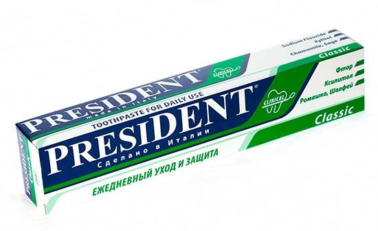 Зубная паста с фтором President Classic