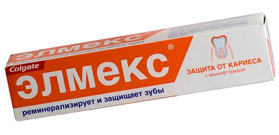 Еще один пример хорошей зубной пасты для взрослых - Элмекс защита от кариеса