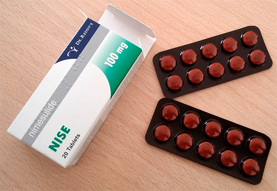 Таблетки Найз (Nise) - довольно часто используются при различных видах болей.