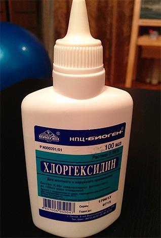 Раствор хлоргексидина - эффективный антисептик.