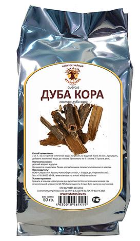Кора дуба обладает противовоспалительными и обеззараживающими свойствами.