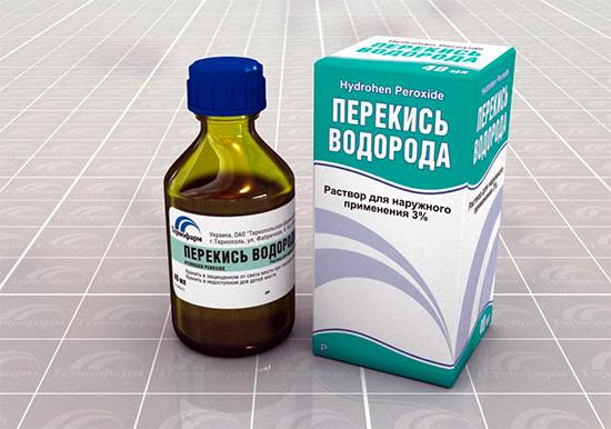 Перекись водорода обладает хорошо выраженными кровоостанавливающими свойствами.