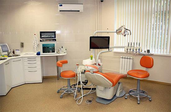 Стоматологический кабинет в клинике бизнес-класса.