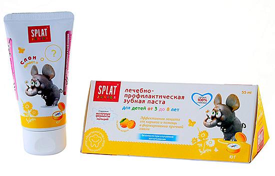 Лечебно-профилактическая зубная паста для детей от 3 до 8 лет.