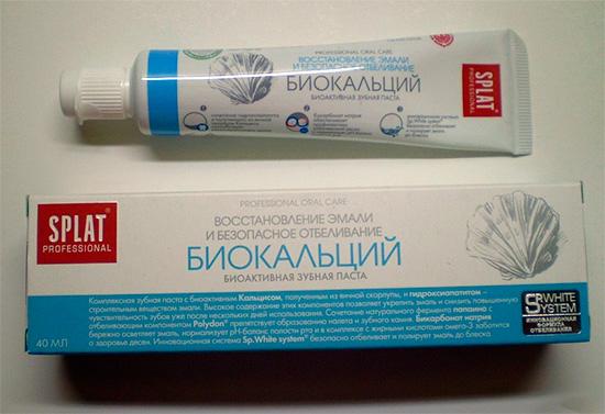 Паста для восстановления эмали зубов Сплат Биокальций