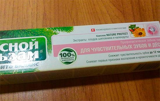 Профилактическая зубная паста Лесной Бальзам Для чувствительных зубов и десен.