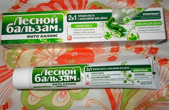 Зубная паста Лесной Бальзам 2 в 1
