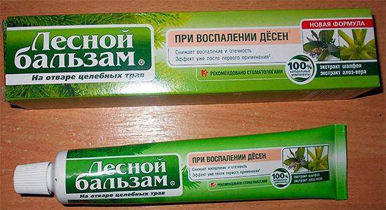 Зубная паста Лесной Бальзам При воспалении десен
