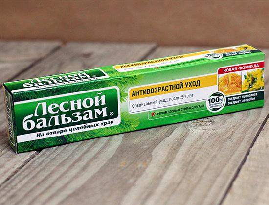 Зубная паста Лесной Бальзам Антивозрастной уход - для тех, кому за 50