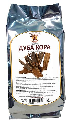 Кора дуба также обладает хорошо выраженным антисептическим эффектом.