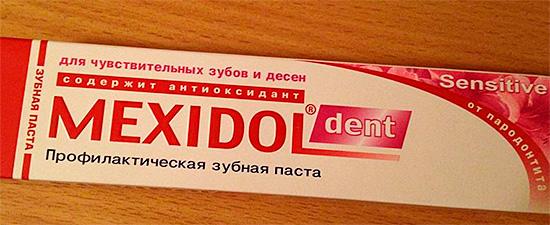 Паста для чувствительных зубов Мексидол Дент Сенситив.