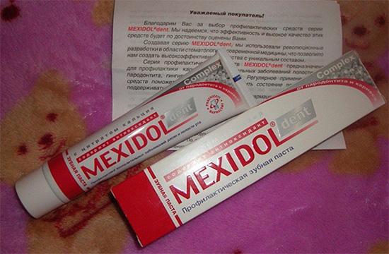 Специфическим активным ингредиентом в составе Мексидол Дент Комплекс является цитрат кальция, способствующий восстановлению зубной эмали.