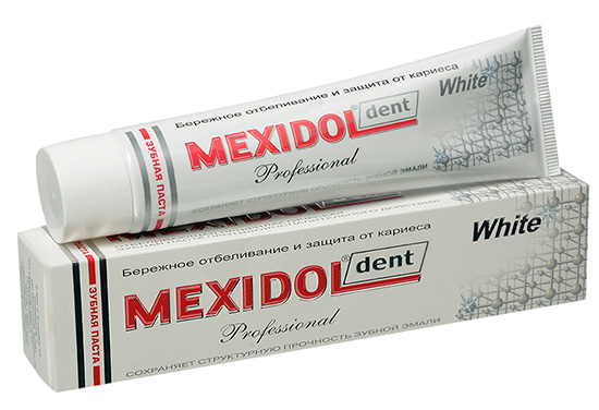 Отбеливающая зубная паста Mexidol Dent Professional White