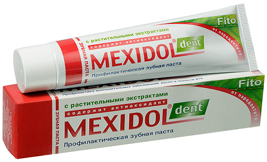 Мексидол Дент Фито помимо базовых компонентов содержит также растительные экстракты.