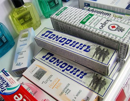 В линейке продуктов компании Alen Mak Bulgaria имеется три зубных пасты Pomorin.