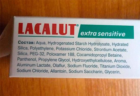 Состав зубной пасты Лакалют Экстра Сенситив...