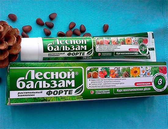 Зубная паста Лесной Бальзам Форте.