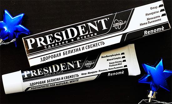 President Renome (тоже бережно отбеливает зубы)