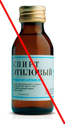 Неразбавленный этиловый спирт тоже не подходит для полоскания рта.