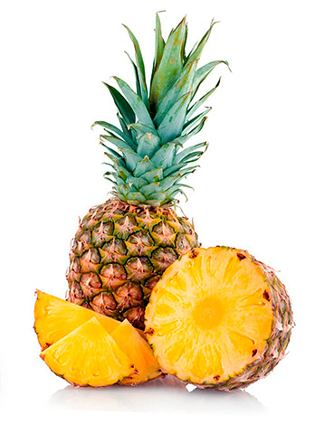 Фермент бромелаин получают из ананасового сока.
