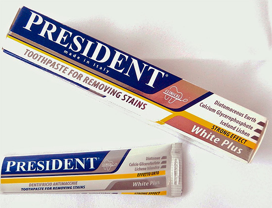 Отбеливающая зубная паста President White Plus