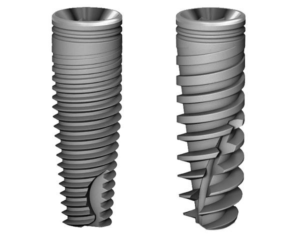 Определенный тип резьбы и форма имплантов Альфа БИО в виде усеченного конуса запатентованы.