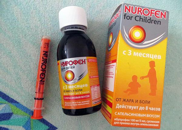Детский Нурофен может быть использован уже с 3 месяцев.