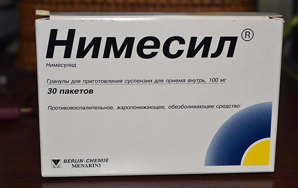 Нимесил - тоже весьма эффективный обезболивающий препарат.