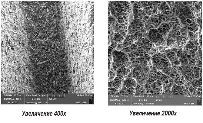 Так выглядит поверхность имплантов MIS под электронным микроскопом.